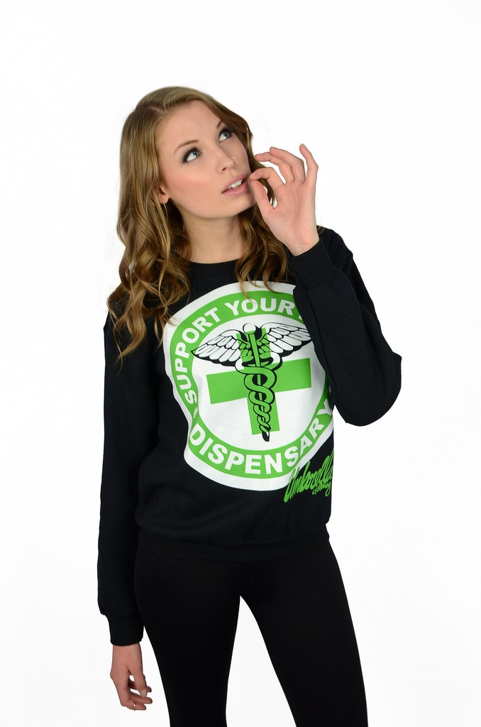 Support Your Local Dispensary Crewneck - Womens