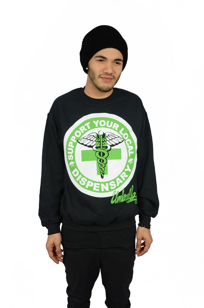 Support Your Local Dispensary Crewneck - Mens