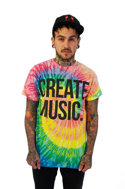 Create music - Mens T-shirt (Tie Dye)