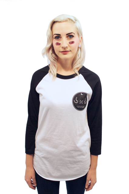 Born Legends 3/4 Sleeve Baseball Raglan Womens