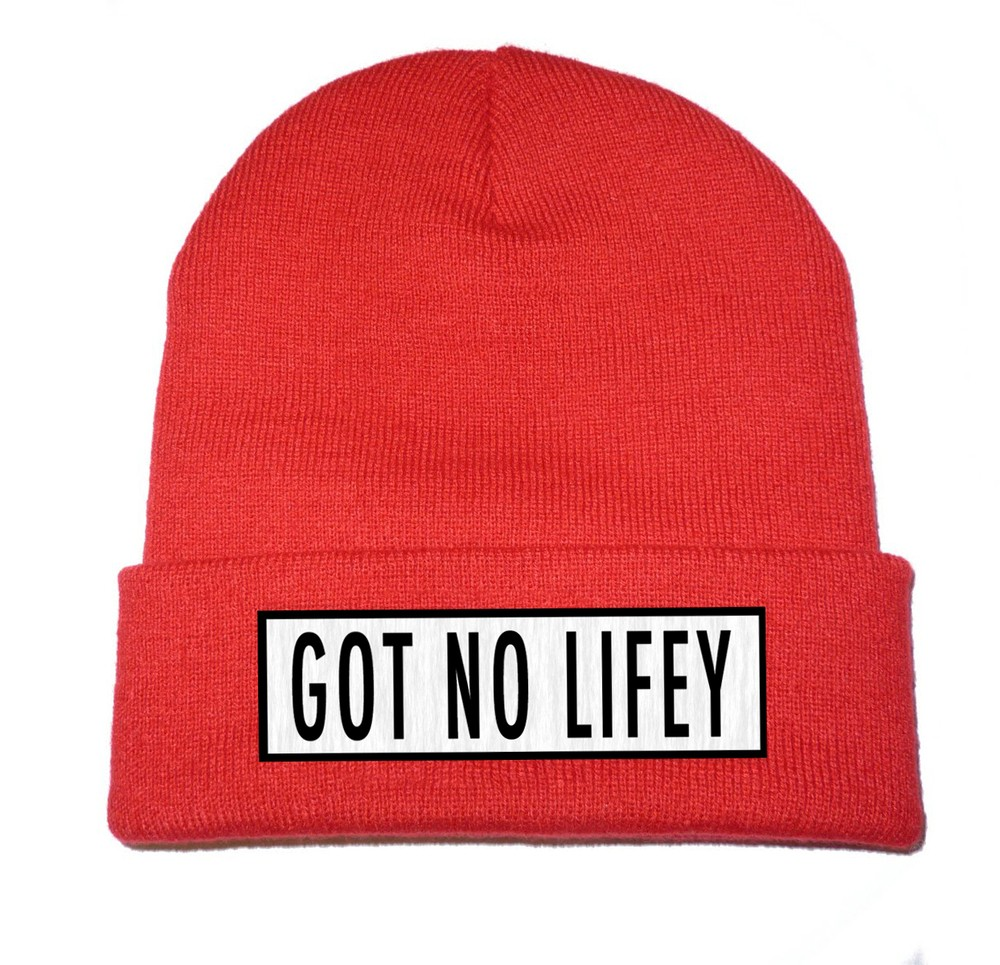 Got No Lifey (Red) Beanie