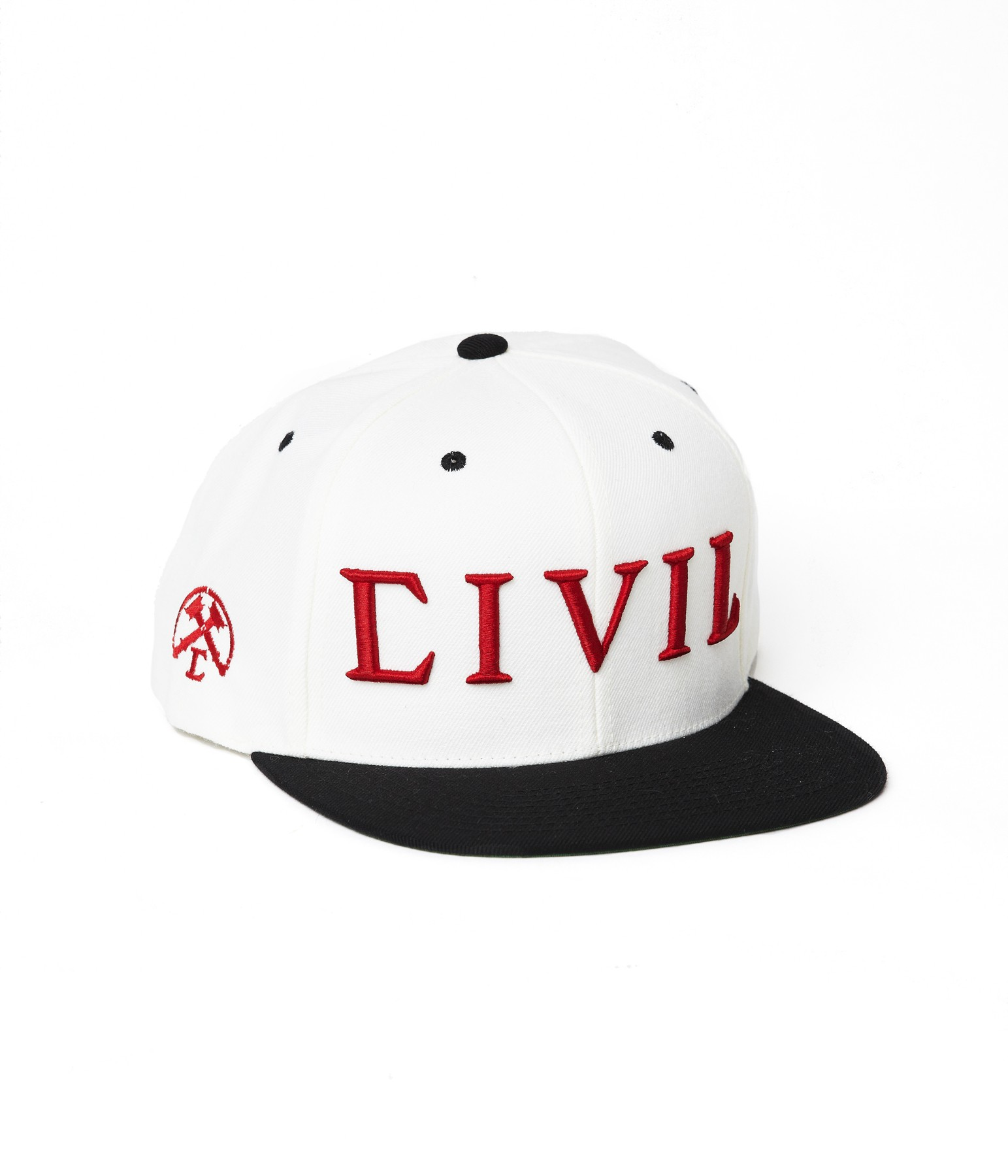 Civil Trap Snapback (White) - Mens