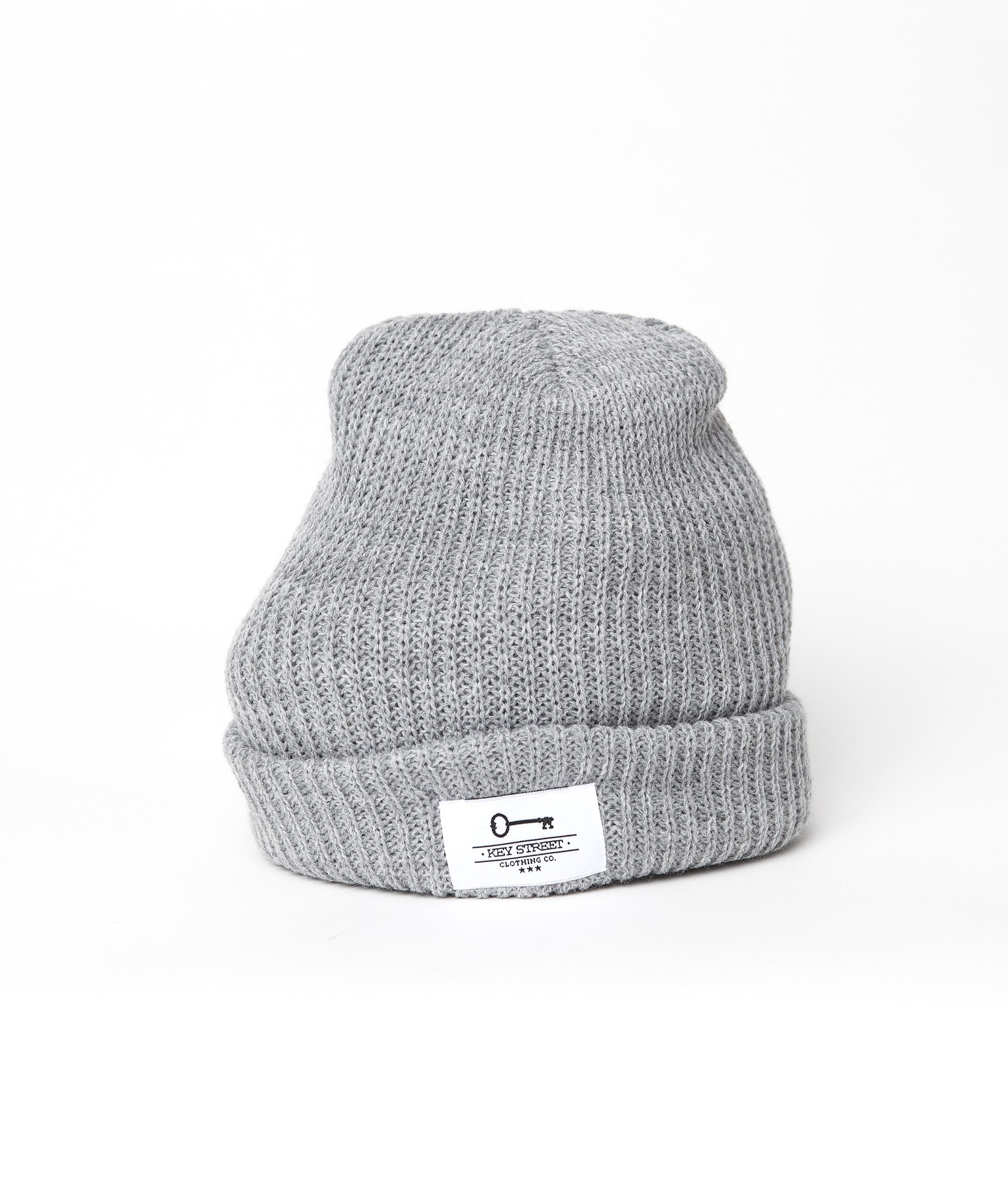 Patch Fishermans Beanie - Heather Gray