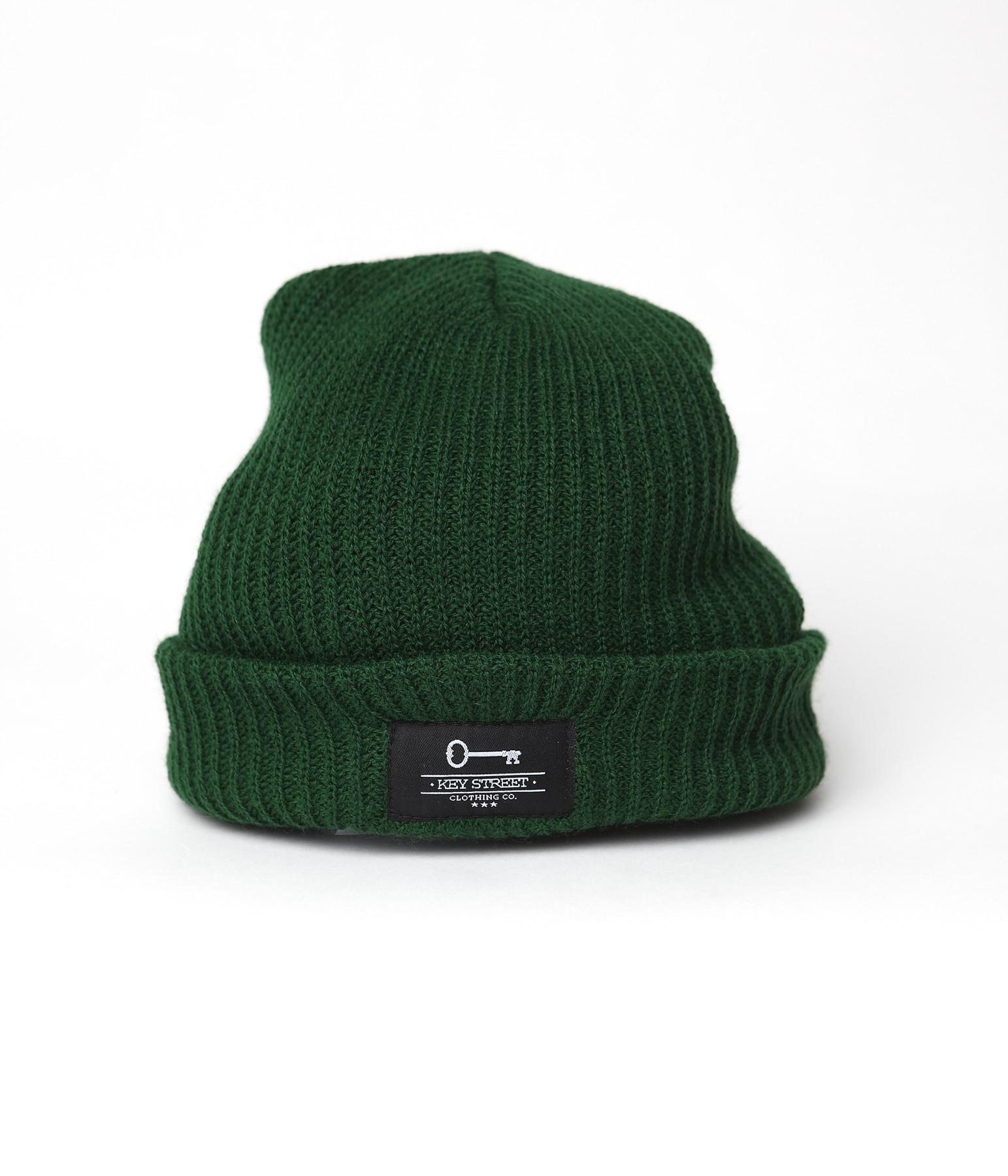Patch Fishermans Beanie - Forest Green