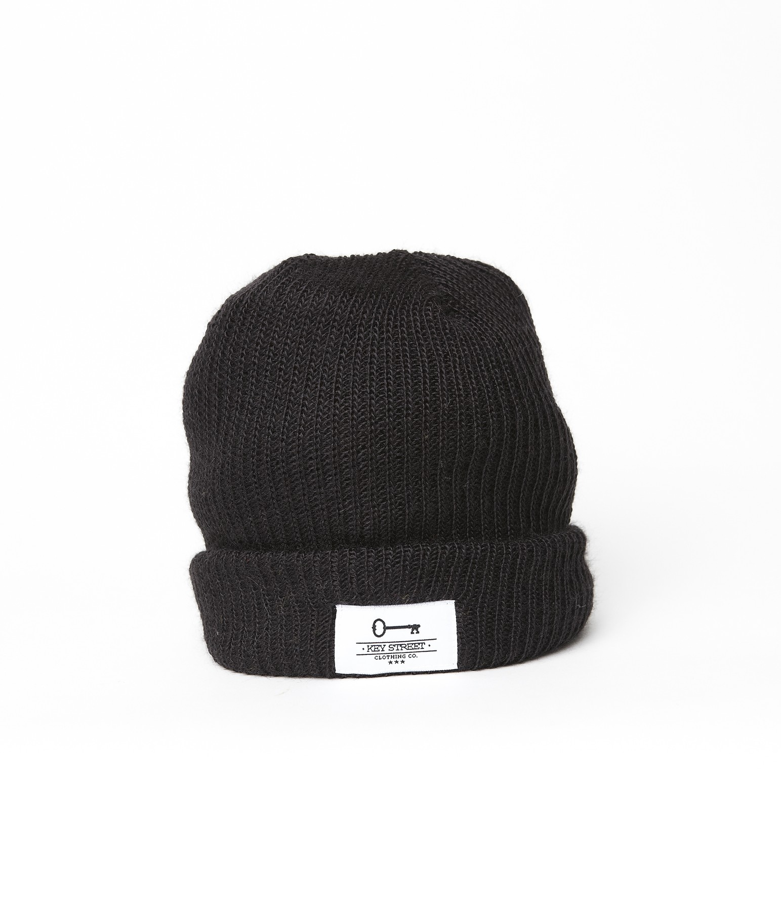 Patch Fishermans Beanie - Black