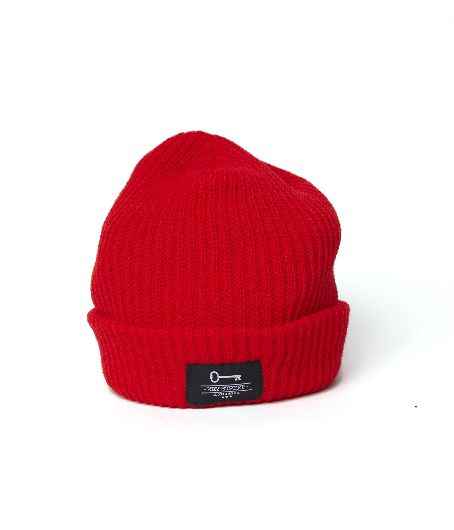 Patch Fishermans Beanie - Red