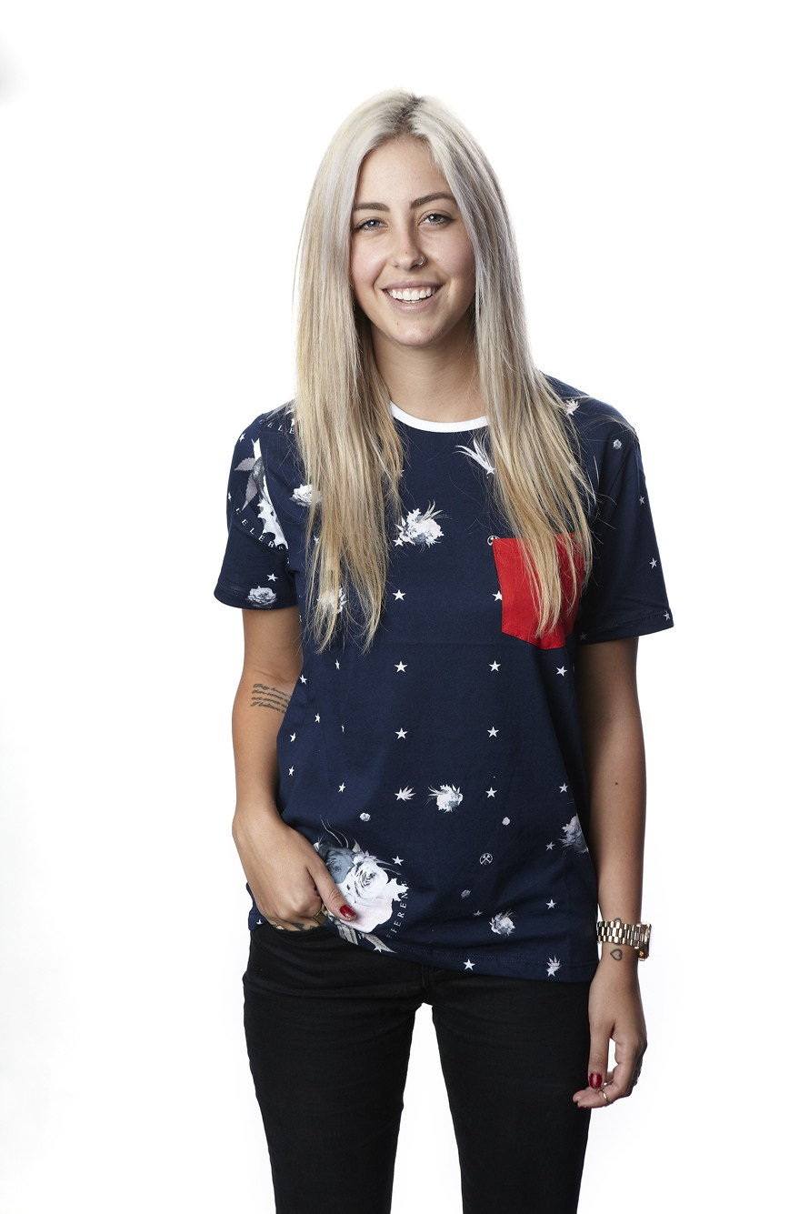 Floral Star Ringer T - Womens