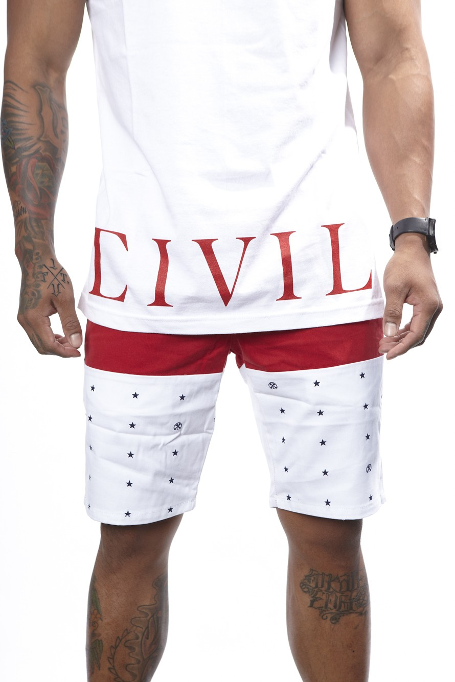 Just Star Montauk Shorts (red) - Mens