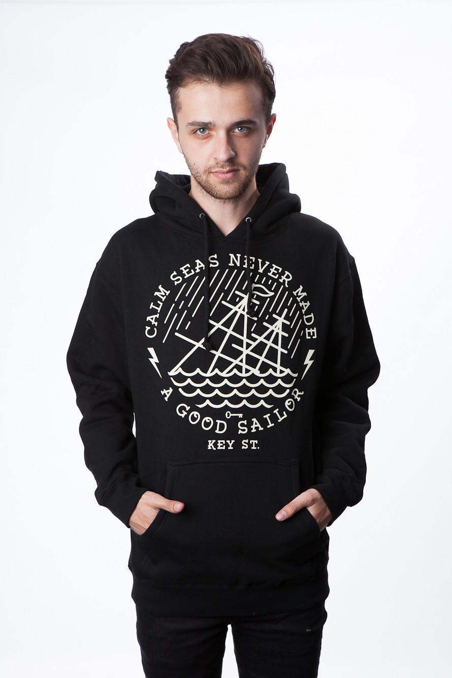 Calm Seas Pullover (Black) - Mens