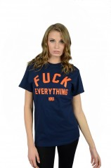 Fuck Everything Navy  T Shirt  Womens