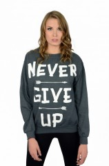 Never Give Up - Crewneck Sweatshirt  - Womens