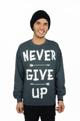 Never Give Up - Unisex Crewneck Sweatshirt  - Mens