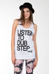 Listen To Dubstep White - Womens Tank Top