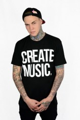 Create music - Mens T-shirt (Black)