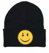Anti Smiley (Black) Beanie