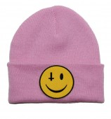 Anti Smiley (Pink) Beanie
