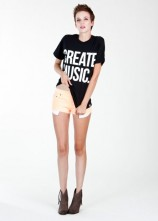 Create music - Womens T-shirt (Black)