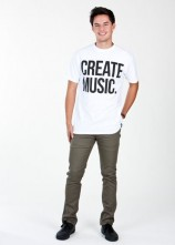 Create Music - Mens T-shirt (White)