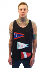 3 Flags Up Tank - Mens