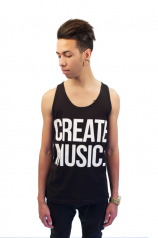 Create Music - Unisex Tank (Black)- Mens