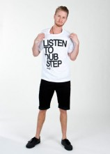 Listen To Dubstep White- Mens T Shirt
