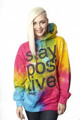 Stay Positive - Tie Dye Pullover Hood - Womens