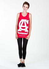 Never Give Up - Womens Tank Top (Red)