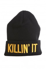 Killin it (Black And Orange) Beanie - Ltd Edition