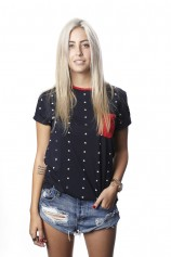 Just Stars Ringer (Navy) - Womens