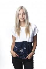 Floral Star Block Scoop Neck - Womens
