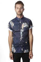 Floral Star Claude Button Up - Mens