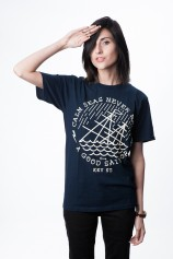 Calm Seas T Shirts (Navy) - Womens