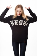 The Old English Knit Sweater  (Black) - Womens