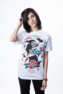 Party Reaper (White) T Shirt - Womens